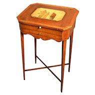 English  small slant lid writing desk, late 18th  century
