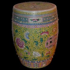 Chinese Export Porcelain Garden Seat, 19th Century