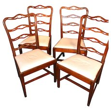 Set of four Philadelphia chairs, circa 1785-1800