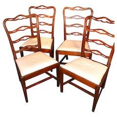 Set of four Philadelphia chairs, circa 1785-1800