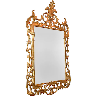 Pair of George II gilt pier mirrors, 18th century