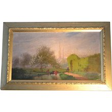 French country scene