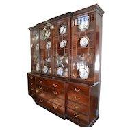 George III breakfront bookcase