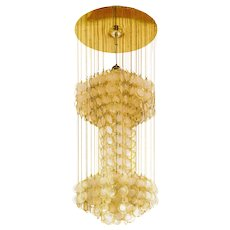 Spectacular mother of pearl  Chandelier