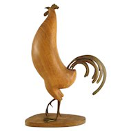 Majestic Rooster - Wood and Brass - Workshop Hagenauer 1935