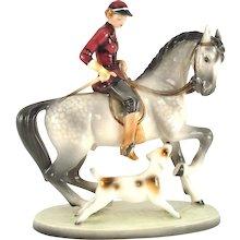 Lady riding a Horse - Goldscheider Vienna, 1930s