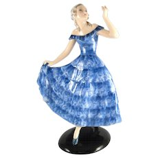 Dancing Lady in blue dress