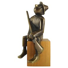 Hunter, having a break - Karl Hagenauer, 1945-1955 - Brass and wood