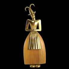 Figurine of a Tyrolean Lady - Workshop Hagenauer Original