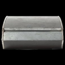 Curved White Metal Jewelry Box by Carl Auböck