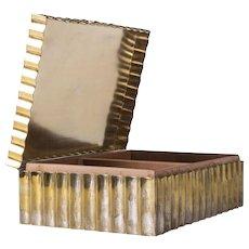 Wiener Werkstätten Dagobert Peche Box with Cover Made of Brass