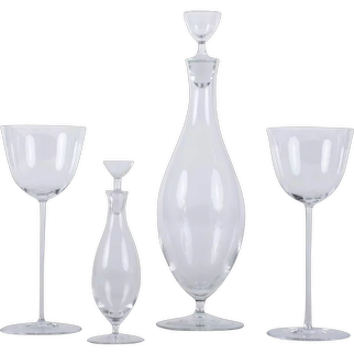 Set of Josef Hoffmann Glasses from the Patrician Series for Lobmeyr