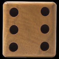 Mint Auböck Penholder in the Shape of a Die Made of Beech Wood