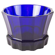 Marked Royal Blue Josef Hoffmann Centerpiece for the Wiener Werkstätte, 1915