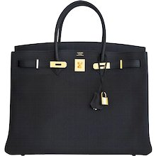 Hermes Black 40cm Togo Birkin Gold Hardware GHW Power Birkin