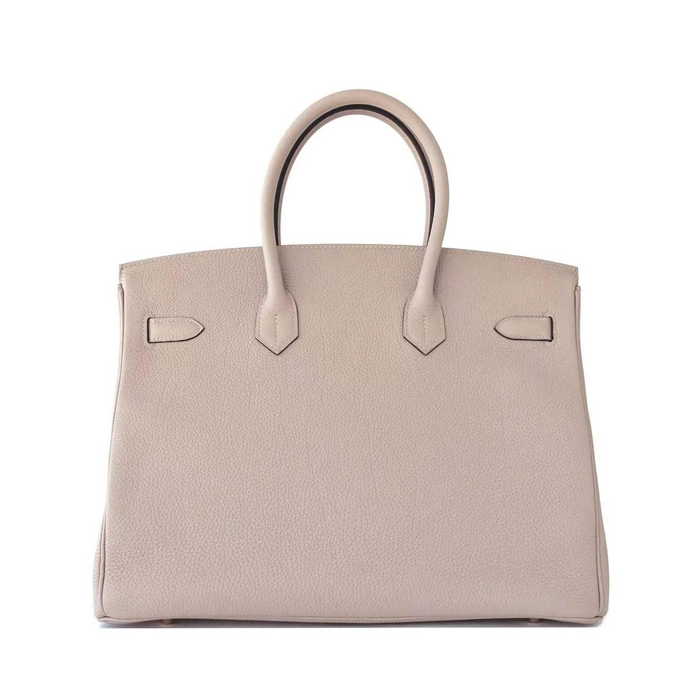 012dc3ea1c7b Hermes Gris Tourterelle 35cm Dove Grey Togo Birkin Gold GHW Tote Bag Chic.  Click to expand