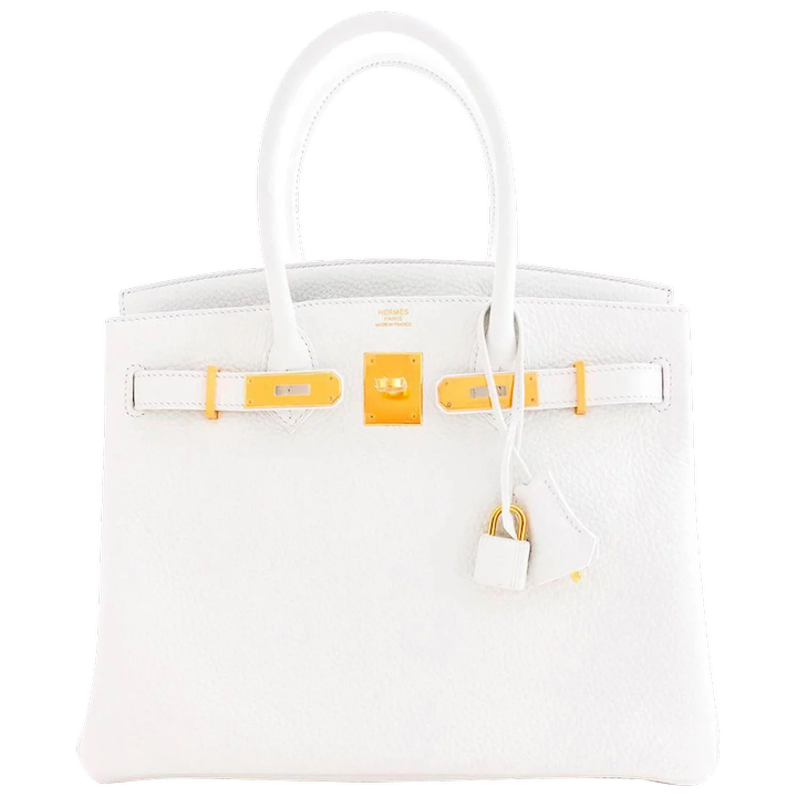 c41394728b749b Hermes White Gold 30cm Birkin Bag GHW Rare Superb : Chicjoy | RubyLUX