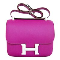 Hermes Anemone Constance 24cm MM Shoulder Palladium PHW Bag