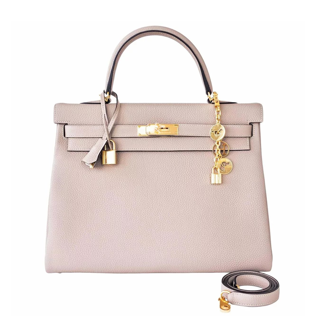 Hermes Gris Tourterelle Togo Dove Grey Kelly 35cm Gold