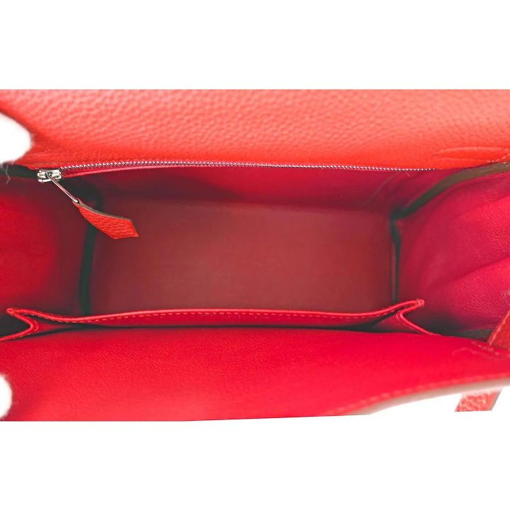 47969ed3a4d Hermes Vermillion 25cm Lipstick Red Togo Mini Kelly Bag Palladium Rare Jewel.  Click to expand. Change Background. Brand New in Box.