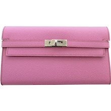 Hermes Bubblegum 5P Pink Epsom Kelly Wallet Clutch T Stamp Grail