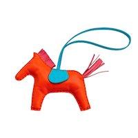 Hermes Orange Poppy Rose Azalea Rodeo Horse Charm MM for Birkin Kelly Latest