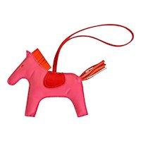 Hermes Rose Azalee Pink Rodeo Bag Charm Agneau Rare Color