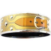 Hermes Gold CDC Printed Enamel Bracelet Bangle Collier de Chien