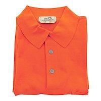 Hermes Orange Men's Polo Short Sleeve Cotton Shirt Large Iconic House Orange