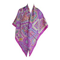 Hermes Secret Paths Silk Shawl Carre GM 140cm Purple Pink Divine