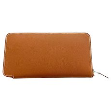 Hermes Cognac Gold Brown Rose Jaipur Astrologie Nouvelle Silk-In Wallet Gift!