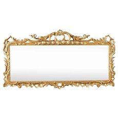 An English George II Period 18th Century Giltwood Overmantel Mirror