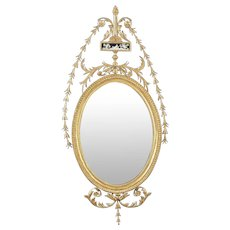 An English 18th Century Hepplewhite Giltwood Mirror