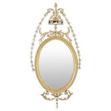 An English 18th Century Hepplewhite Giltwood Mirror