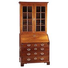 An 18th Century Chinese Export Secretary Bureau Bookcase in Rosewood/Padouk