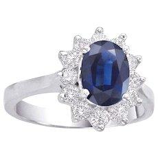 Diana & Kate Oval Sapphire & Diamond Ring
