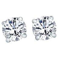 Diamond Stud Earrings 3.06 Carats