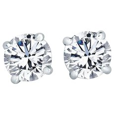 Diamond Stud Earrings 3.06 Carats