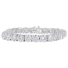 Diamond Tennis Bracelet; 17.58 cts.