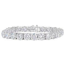 Diamond Tennis Bracelet; 17.58 cts.
