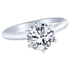 Diamond Solitaire engagement Ring 1.00 cts. GIA