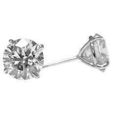 Classic 3.10 Carat Brilliant Diamonds Stud Earrings