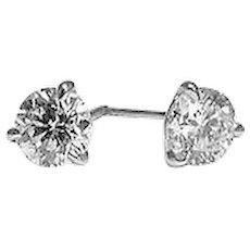 1.40 Carats Brilliant Diamond Studs Earrings