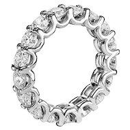 Prince Diamond Diamond Gold Eternity Band Ring 4.00 Cts
