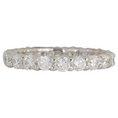 Brilliant Diamond Gold Eternity Band Ring 2.00 Cts.
