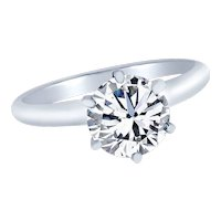 Brilliant 0.70 Carat GIA Cert Diamond Gold Solitaire Engagement Ring