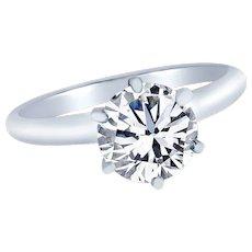 Brilliant 0.70 Carat GIA Cert Diamond Gold Solitaire Engagement Ring