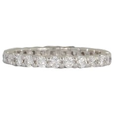 Diamond Gold Eternity Band Ring 1.00 cts.