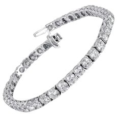 Straight Diamond Tennis Bracelet 10.00 Carats