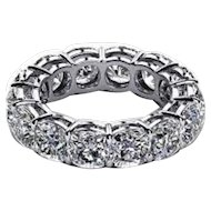 5.60 Carats Diamonds Platinum Eternity Band Ring